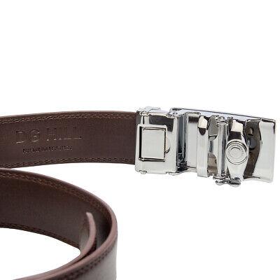 Men's Designer Leather Dress Belt With Sliding Ratchet Automatic Buckle Holeless 11