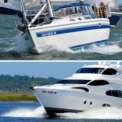 2x Boots Aufkleber Bootskennzeichen Kennzeichen FOIL0282