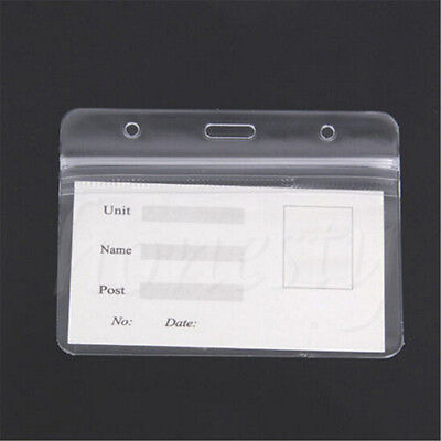 5~20x Clear Vertical ID Badge Card Plastic Waterproof Pocket Holder Pouches 4