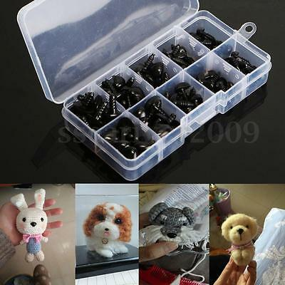 100PCS 5 sizes 8-15mm Plastic PVC Safety Nose Triangle Doll Teddy Puppet Making