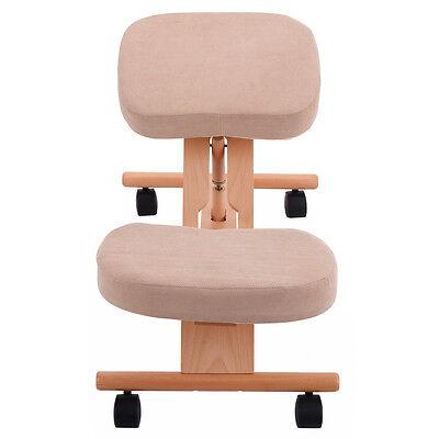 Wooden Chair Kneeling Orthopaedic Stool Ergonomic Posture Frame Seat Health Care