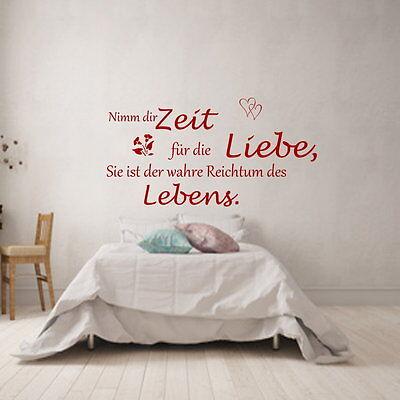 +Nimm dir Zeit für die Liebe Spruch Wandtattoo Schlafzimmer Wohnzimmer 1010