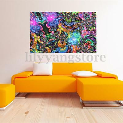 PSYCHEDELIC TRIPPY ART Silk Fabric Cloth Poster Home Wall Decor 40 x ...