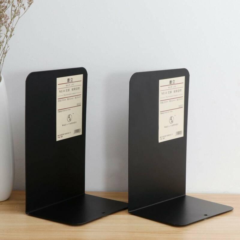 2 X Acryl Ständer Buchstütze Buchstützen Buchständer Schwarz Für Bücherregal