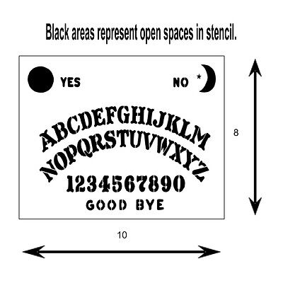 1 Of 4FREE Shipping 8 X 10 Ouija Spirit Board STENCIL Moon Star Sun Supernatural