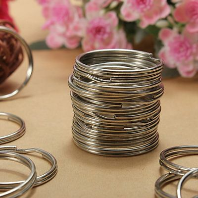 50-200PCS Lot Key Rings Chains Split Ring Hoop Metal Loop Steel Accessory 25MM A 2