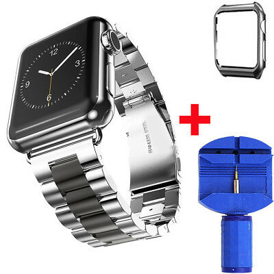 Stainless Steel iWatch Band Strap Wrist With Case For Apple Watch Series 1/2/3/4 8