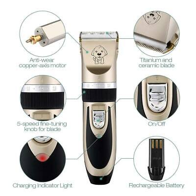 NEW Electric Animal Pet Dog Cat Hair Trimmer Shaver Razor Grooming Quiet Clipper 4
