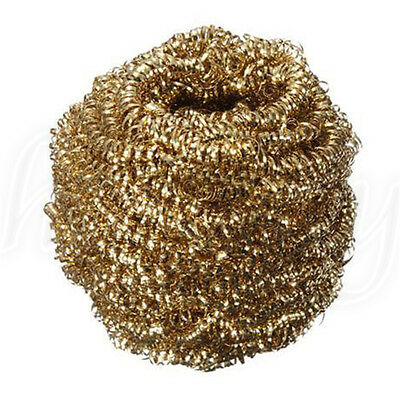 1pc Soldering Solder Iron Tip Cleaner Brass Cleaning Wire Sponge Ball Gold 5