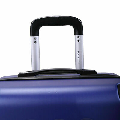 3 Piece Luggage Set Travel Trolley Suitcase ABS+PC Nested Spinner w/ Cover Blue 12