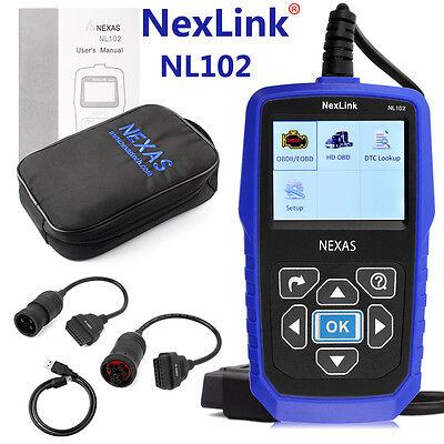 Nexas Nl102 Heavy Duty Truck & Car Obd2 Diagnostic Hd Code Reader Diesel Scanner 3