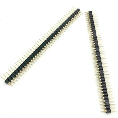 5PCS Single Row 40Pin 2.54mm Round Male Pin Header gold plated machined