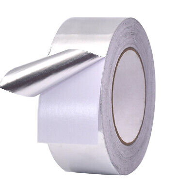 Aluminium Foil Tape Roll Self Adhesive Insulation Reflective Duct Silver 50mm 3