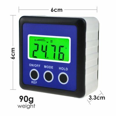 Digital Protractor Angle Finder Bevel Box Inclinometer Magnetic Base Carpentry 5