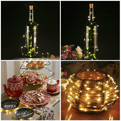 Cork Shaped 20 LED Night Light Starry Lights Wine Bottle Lamp For Wedding Party 8