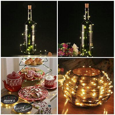 Lot 10/20/50 Leds Cork Shaped String Light Starry Light Bottle Lamp W/battery LS
