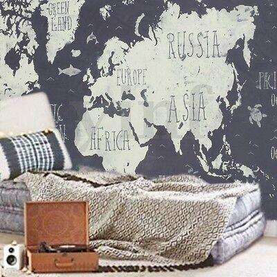 World Map Indian Mandala Wall Hanging Tapestry Art Yoga Home Living Room Decor