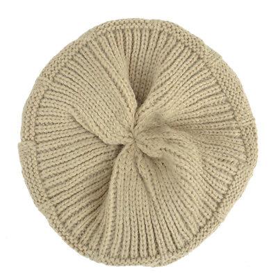 New Acrylic Unisex Chunky Knit Beanie Slouchy Hand Knit Hat Beanie Winter Hats 5