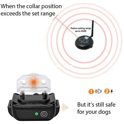 Wireless Electric Dog Fence Pet Containment System Shock Collars For 1/2/3 Dogs 4