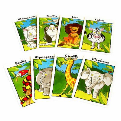 Children's Traditional Card Games - Happy Families Jungle Snap Donkey Pairs Snap 2