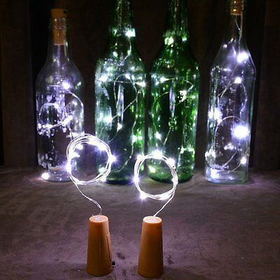 Cork Shaped 20 LED Night Light Starry Lights Wine Bottle Lamp For Wedding Party 11