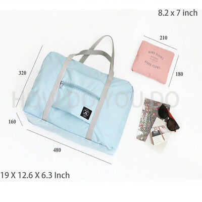 Portable Foldable Travel Storage Luggage Carry-on Big Hand Shoulder Duffle Bag 2