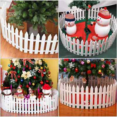 1-50X Picket Fence Garden Fencing Lawn Edging Home Yard Christmas Tree Fence UK 4