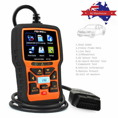 FOXWELL NT301 Car OBD2 EOBD Scanner Auto Code Reader Engine Diagnostic Scan Tool 2