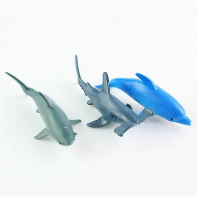 24X Plastic Ocean Animals Figure Sea Creatures Dolphin Turtle Whale Model Toys 8