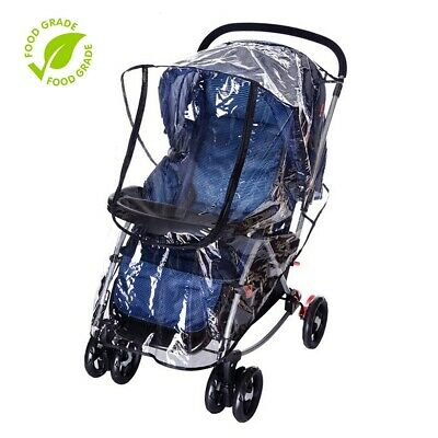 Stroller Rain Cover Baby Buggy Pushchair Universal Raincover Windproof Dust Snow 3