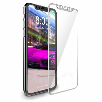 For Apple iPhone X XS Full Coverage Soft Edge 9H Tempered Glass Screen Protector 8
