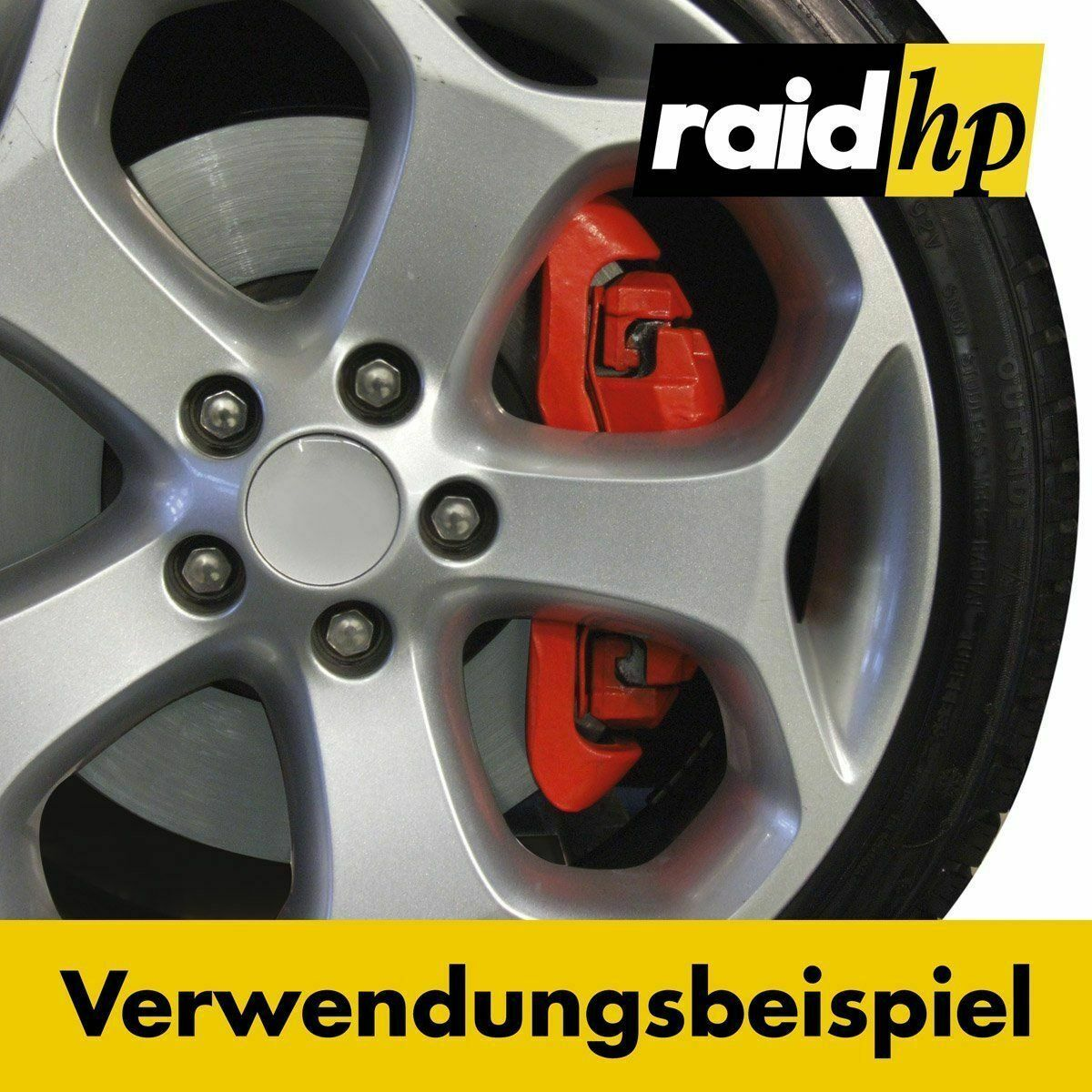 RAID BREMSSATTELLACK in ROT Bremssattel Lack Bremssattelfarbe 350001 Bremsenlack 2
