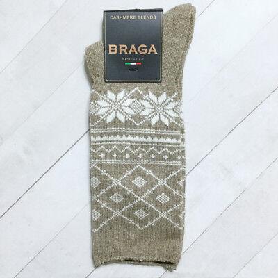 3 pr Women/'s 56/% Merino Wool Snowflake HIKING//BOOT Socks…Nice Color Mix..Sz 7-9