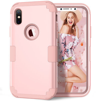 iPhone XS Max XR X 6 7 8 Plus Shockproof Armor Rubber Protective Hard Case Cover 8