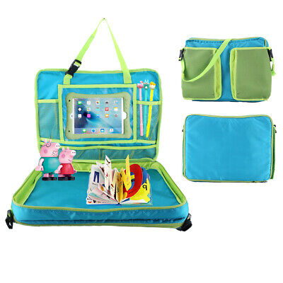 Kids Car Seat Travel Activity Tray Detachable Toddler Lap Table Carry Holder Bag 2