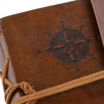 Vintage Retro Journal Travel Diary Notepad Leather Cover Blank Note Book Brown 5