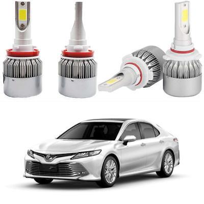 For Toyota 4Runner 2010-2018 6x LED Headlight Bulbs Kit Hi/low Beam + Fog Light 5