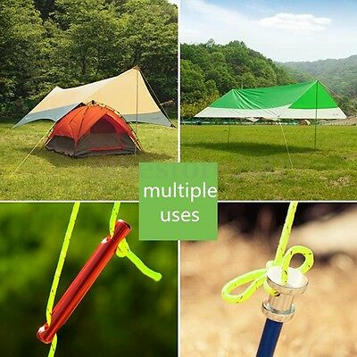 2.5MM Reflective Guyline Camping Tarp Tent Rope Line Cord Paracord 5M/10M/20M 4