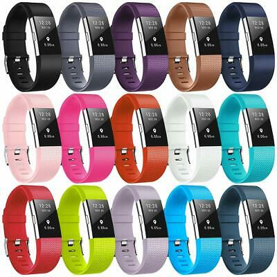 For Fitbit Charge 2 Strap Sports Wrist Band Silicone Replacement Small Large 9