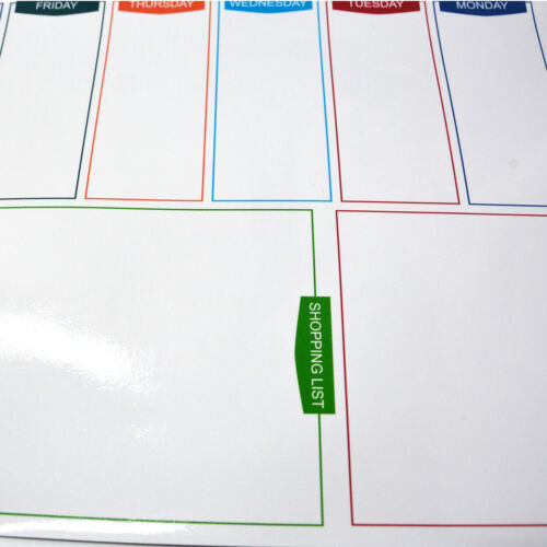 Large A3 Magnetic Whiteboard Family Weekly Planner Shopping List+ 2 Free Marker 7