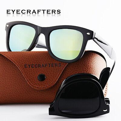 fe71b2f8dfb 2 of 12 Mens Womens Folding Foldable Sunglasses Polarized Retro Driving  Mirrored New 1