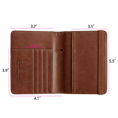 Travel Passport ID Card Wallet Holder Cover RFID Blocking Leather Purse Case AU 6