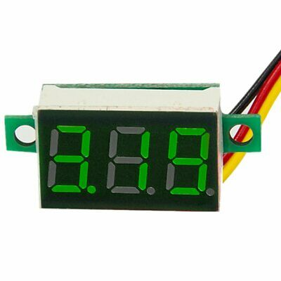 DC 0-100V Wires LED 3-Digital Mini Voltmeter Meter Display Voltage Panel Test 6