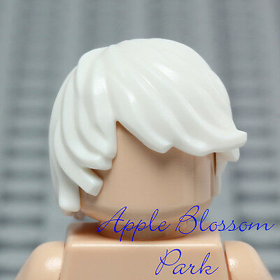 Minifig Male Hair Mid-Length Tousled w// Center Part LEGO White