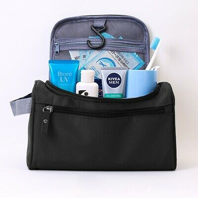 Men Business Travel Cosmetic Bag Make Up Toiletry Storage Dry Wet Pouch Wash Bag 4