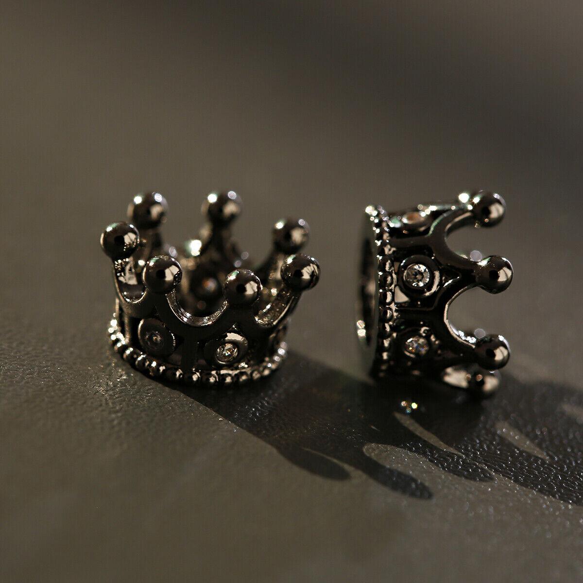 Zircon Gemstones Pave Queen Crown Bracelet Brass Copper Connector Charm Beads 11