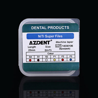 10X AZDENT Dental Endodontic Root Canal Engine Use File Size SX-F3 25MM 7