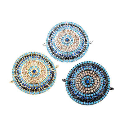 Zircon Gemstones Pave Crown Helmet Leopard Bracelet Connector Charm Loose Beads 8