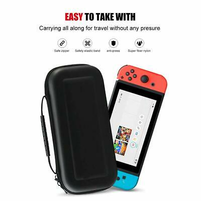 For Nintendo Switch Travel Case Storage Bag+Screen Protector+Cover Accessories 12