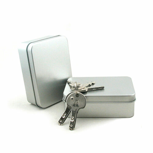 BD/_Mini Hinged Lid Tin Silver Empty Storage Box Metal Case For Money Coin Candy